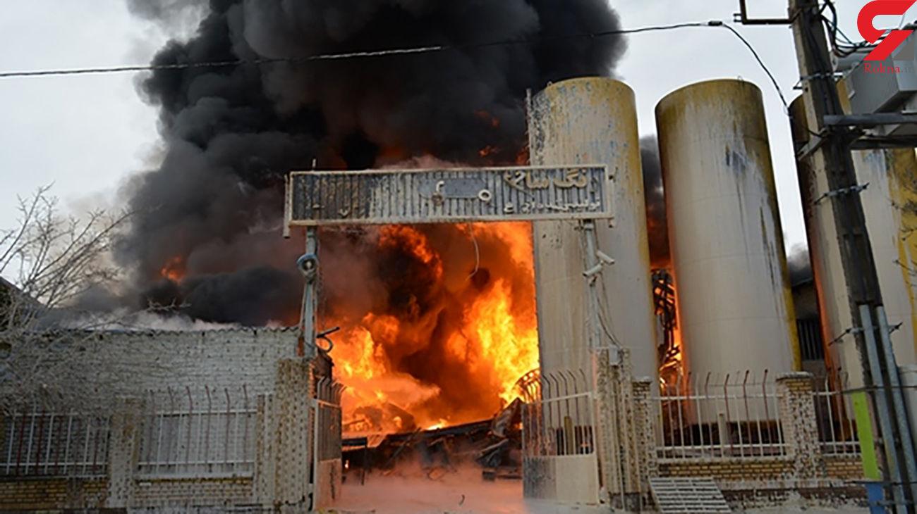 مهار آتش سوزی گسترده در کارخانه گندله سنگان +فیلم