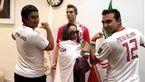 بهنوش بختیاری با لباس تیم ملی در کنار رونالدو +عکس