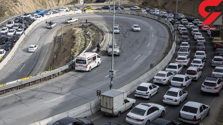 ترافیک کیلومتری در جاده لواسان در روزهای کرونایی + عکس