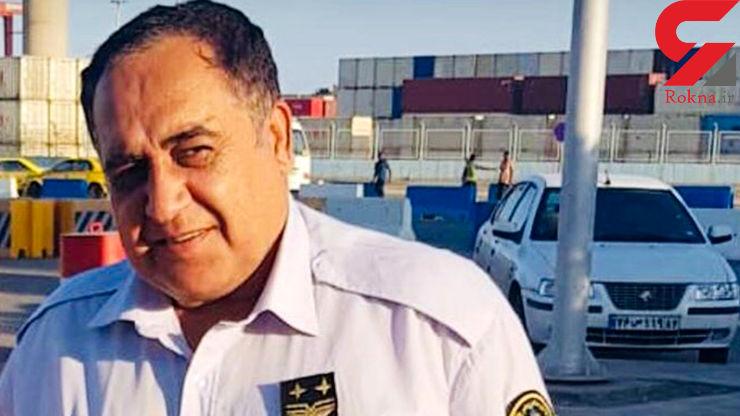 محمد بهادری در آتش سوزی بندر شهید رجایی کشته شد +عکس