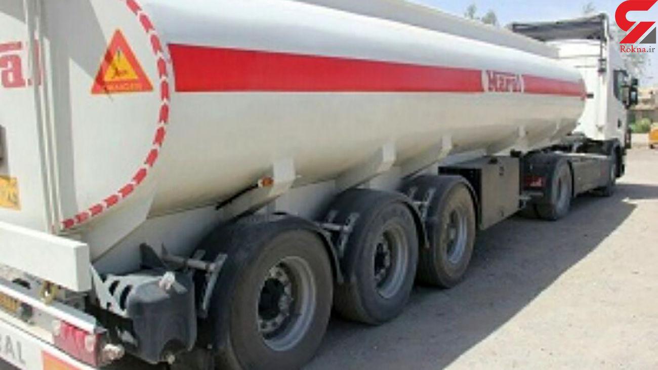 توقیف کامیون سوخت قاچاق در همدان