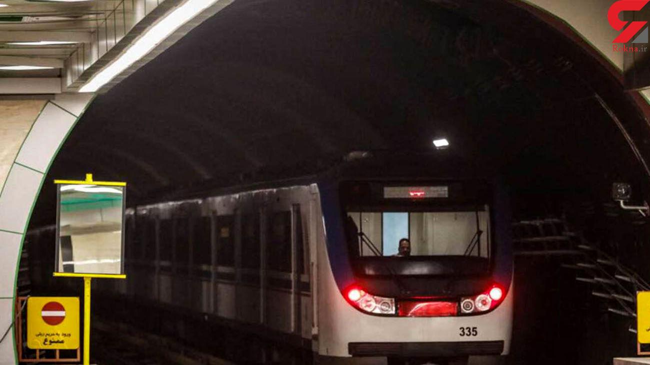 ترافیک در خط 2 مترو تهران