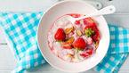 شیر برنج توت فرنگی میان وعده ای متفاوت + دستور پخت