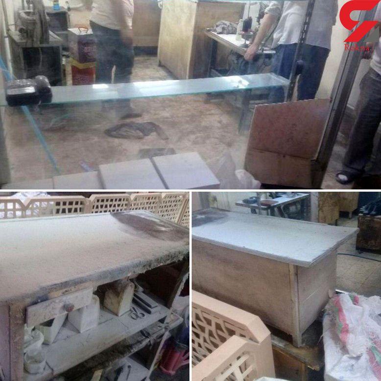 مهار آتشسوزی مغازه تولیدی کفش در پاساژ امام خمینی (ره) تبریز