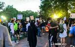 سوژه شدن زن چادری در اعتراضات مقابل کاخ سفید + فیلم