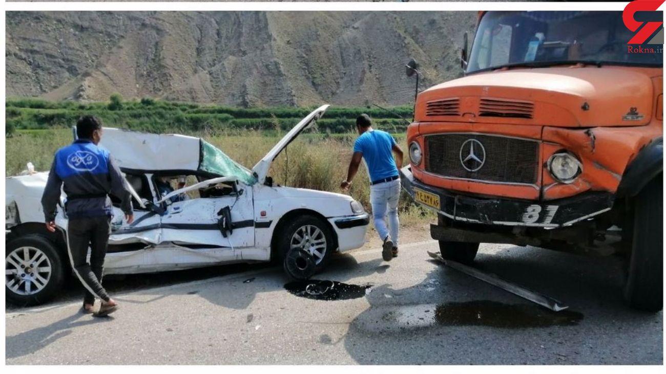 تصادف مرگبار در محور خوش ییلاق گلستان + عکس فاجعه با 2 کشته