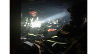 آتش سوزی هولناک یک مغازه ته لنجی در آبادان