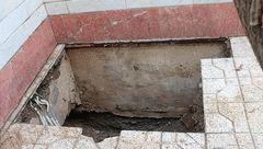 زن تهرانی در اعماق کف حیاط منزل مسکونی اش چه می کرد+ تصاویر