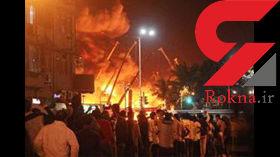 5 کشته در آتش سوزی فروشگاه لباس هندی+عکس