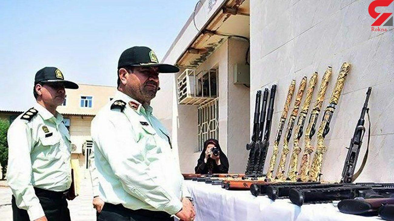 انهدام 5 باند قاچاق سلاح و مهمات در خوزستان