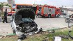 تصادف شدید پژو ۲۰۶ با جدول در بزرگراه شهید کریمی + تصاویر