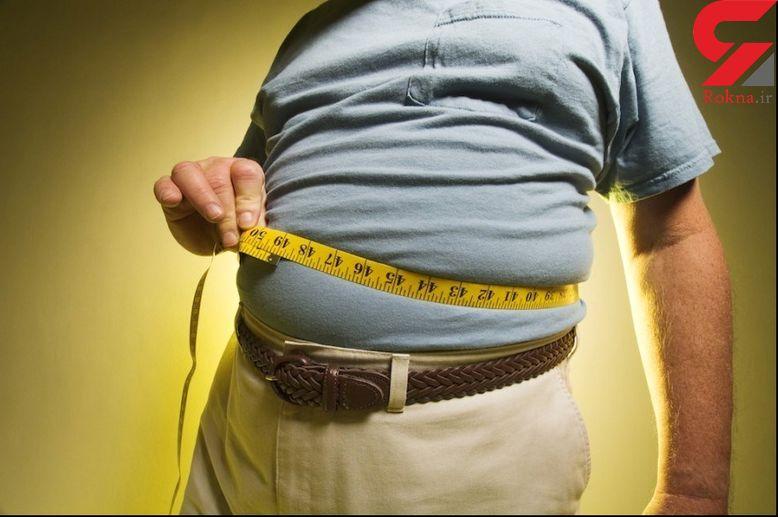 چاقی که بیشتر مردان را گرفتار می کند