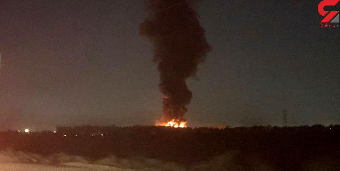 بررسی علت آتش سوزی در کارخانه میهن + فیلم و عکس
