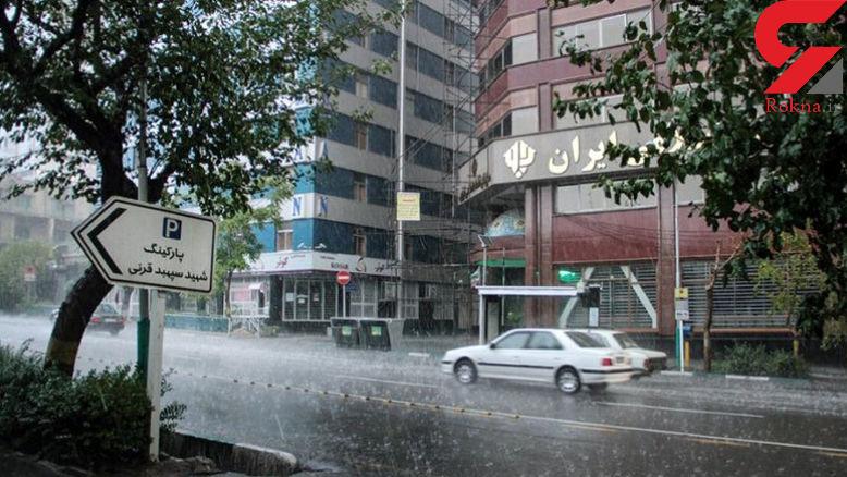 بارش ها تا فردا ادامه دارد/گرد و خاک به جنوبشرق کشور میرود