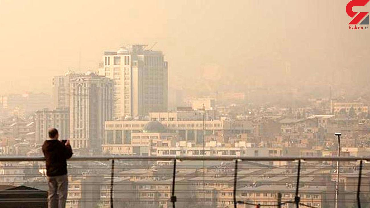هوای تهران از مرز آلودگی گذشت