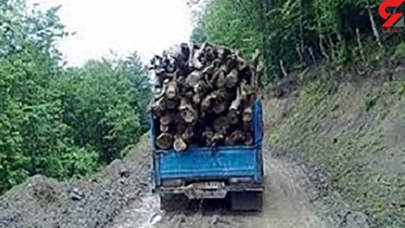 کشف 105 اصله چوبآلات قاچاق جنگلی در اردبیل