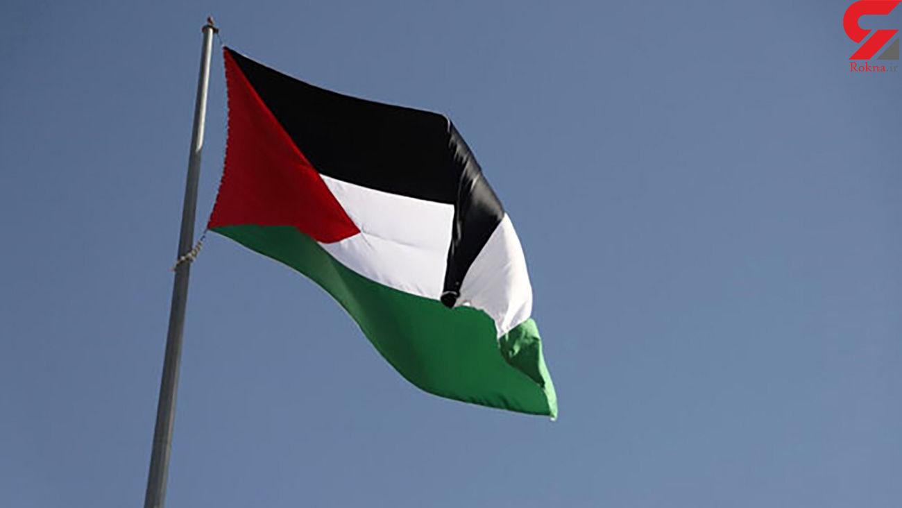 اهتزاز پرچم فلسطین اشغالی در شهر قم