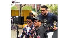 گلزار و حیایی در پشت صحنه «ساخت ایران ۲» +عکس