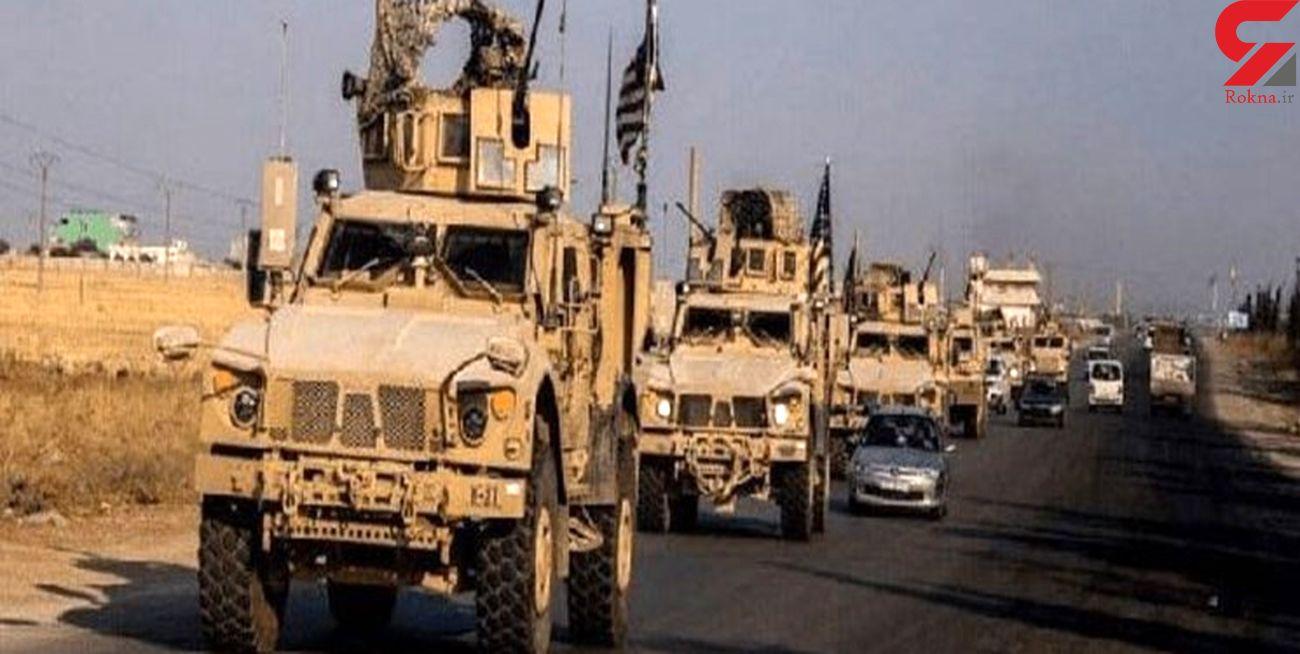 ورود خودروهای حامل تجهیزات نظامی آمریکا به سوریه