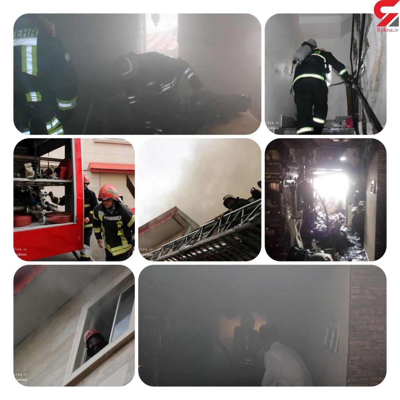 آتش سوزی در ساختمان 4 طبقه/به همراه فیلم و عکس