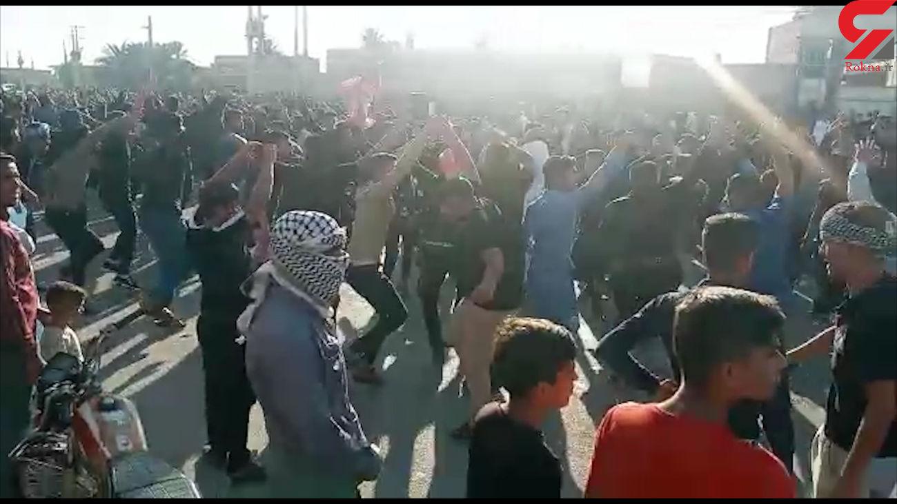 تیرباران وحشت آور در مراسم عزاداری پسر شیخ / خوزستان + عکس و فیلم
