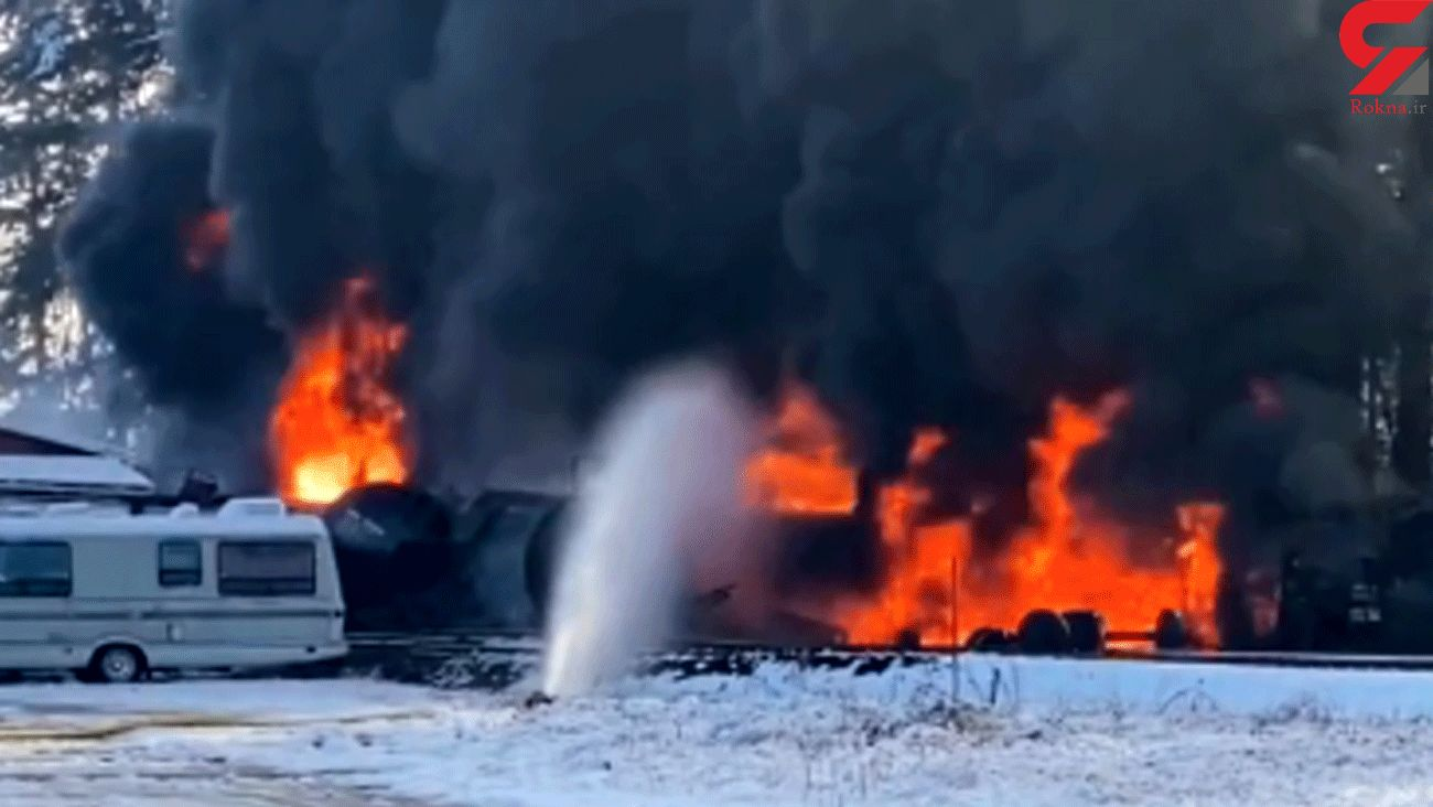 Train carrying crude oil derails, catches fire in Washington