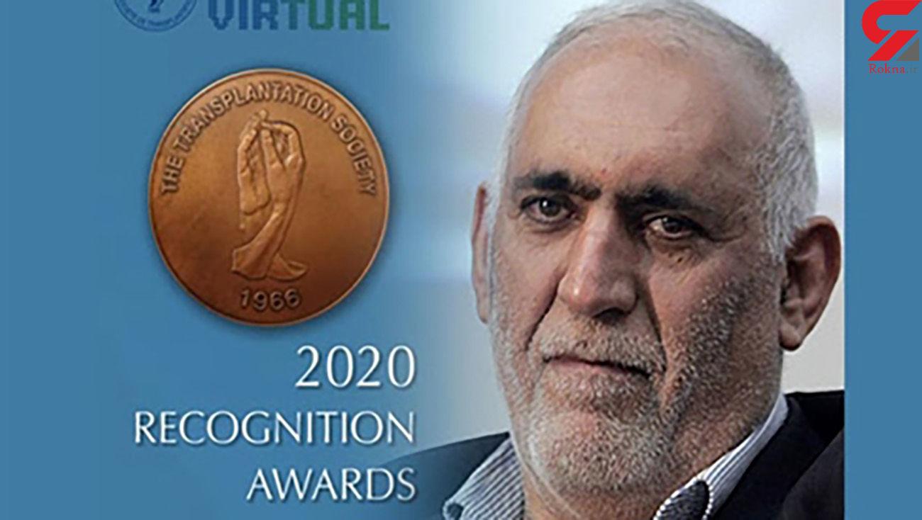 دکتر ملک حسینی موفق به دریافت جایزه 2020 انجمن جهانی پیوند اعضا شد