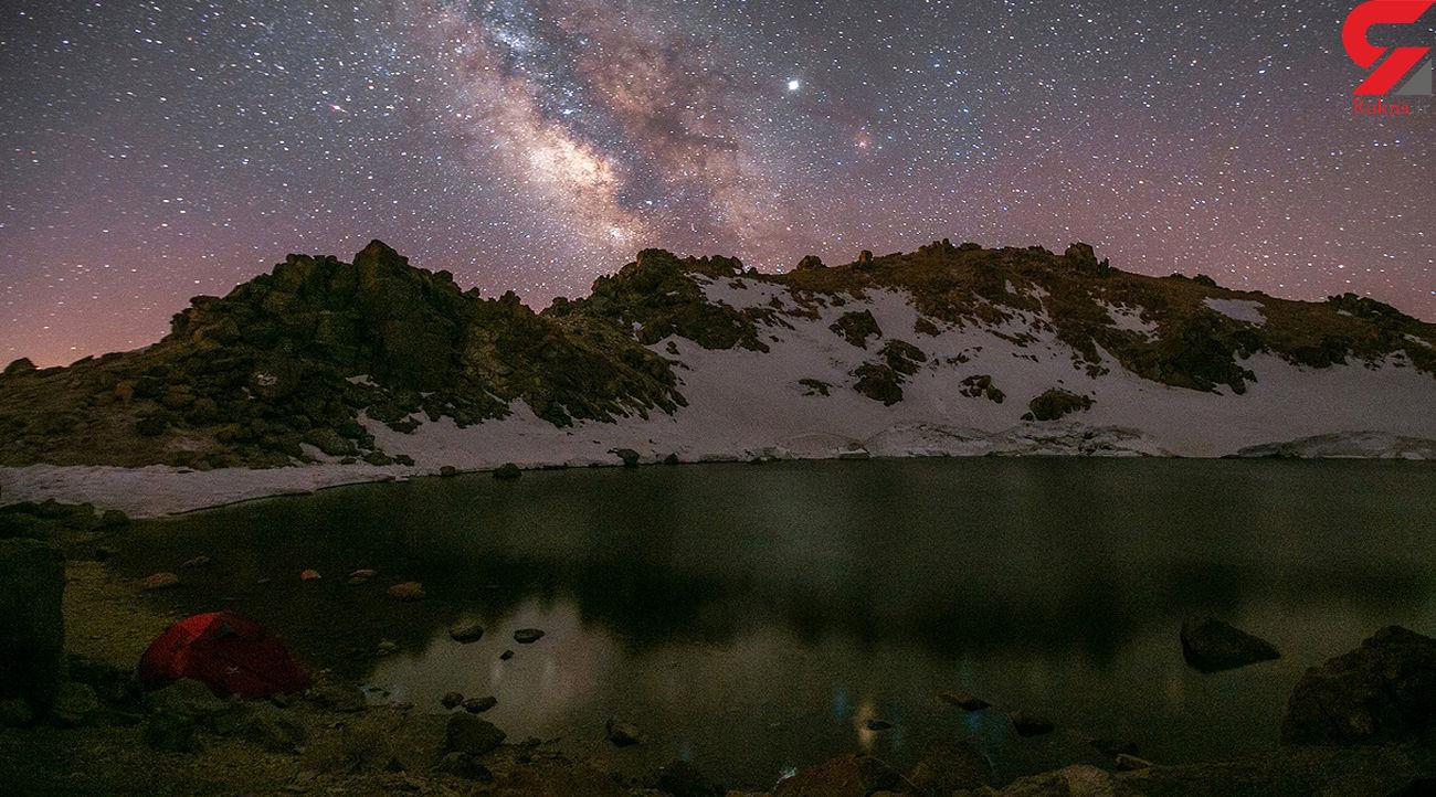 کهکشان راه شیری بر فراز قله سبلان + فیلم