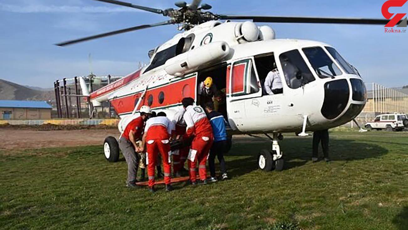 تصادف شدید هلیکوپتر امداد با تکنیسین اورژانس سمنان
