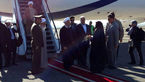 روحانی صبح امروز وارد فرودگاه کرمانشاه شد.