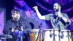 تشویق و تبریک تماشاگران به حسن روحانی در کنسرت خواننده معروف