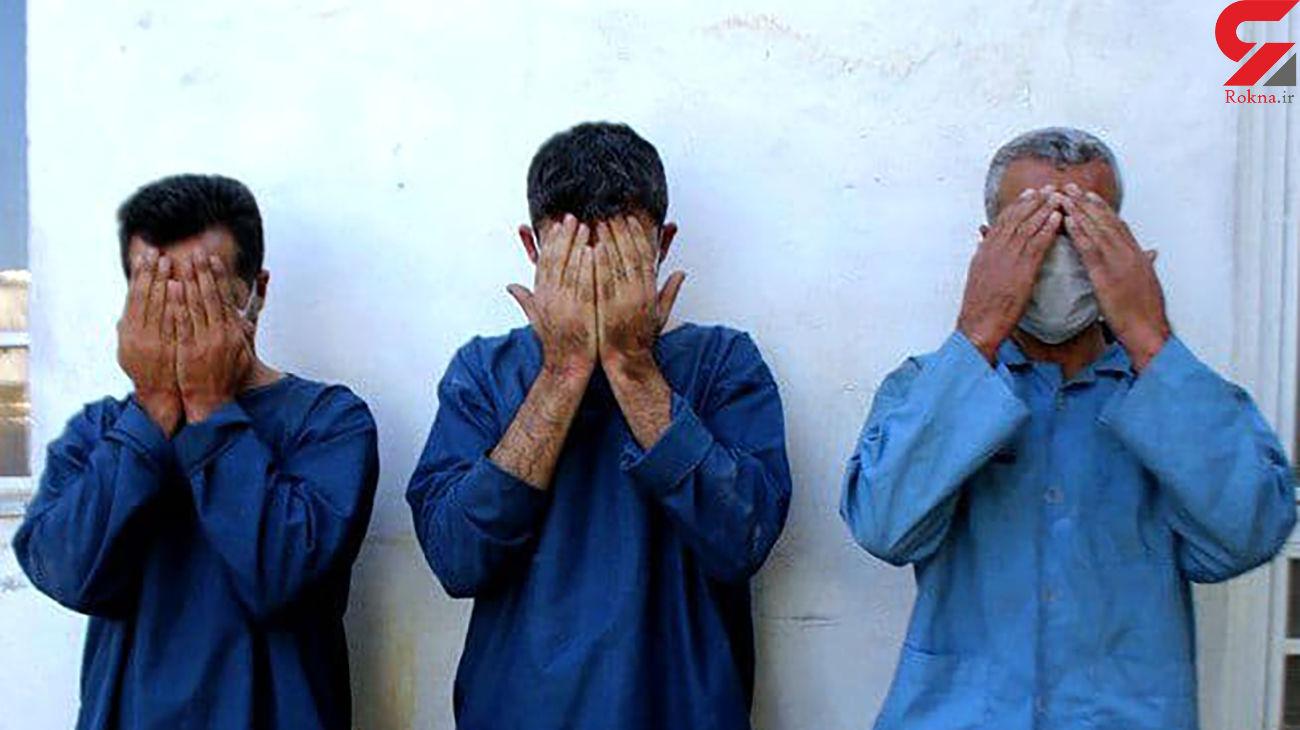 فیلم لحظه دستگیری 3 تفنگدار در خیابان شریعتی تهران