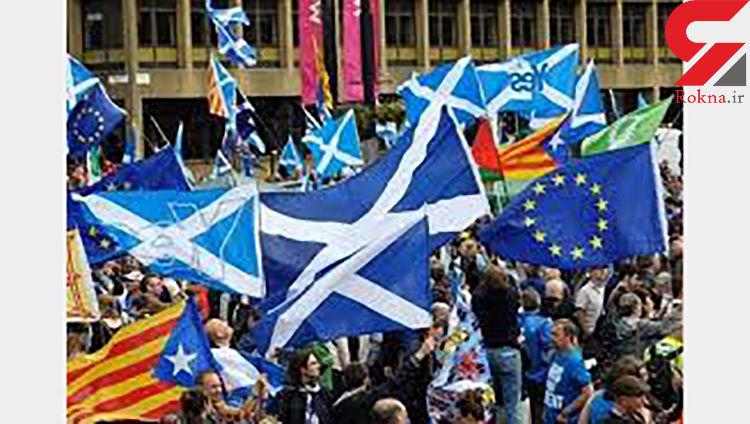 تظاهرات هزاران اسکاتلندی در حمایت استقلال از بریتانیا