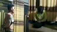 فیلم دار زدن مرد خائن توسط خانواده همسر/ او و زن نامحرم برهنه بودند