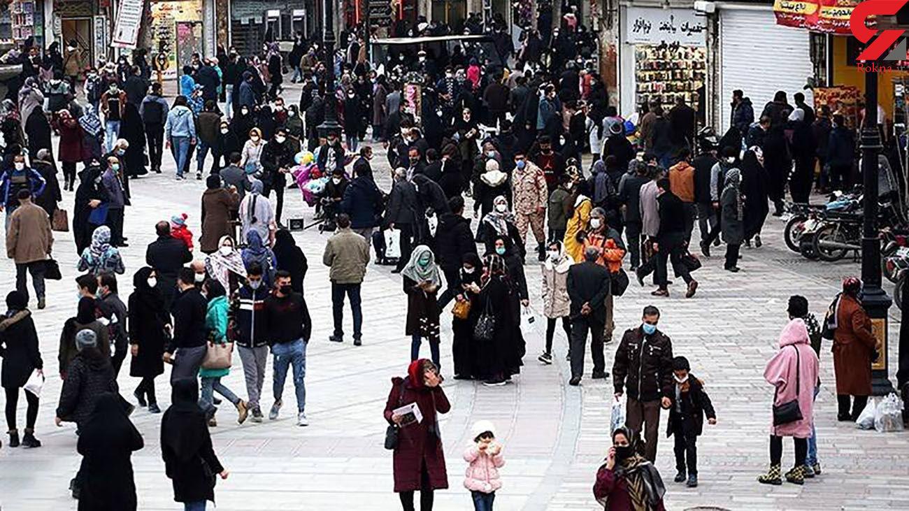 بازار شلوغ همدان در روزهای کرونایی + عکس