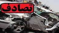 تصادف با تیر چراغ برق در میانرود شیراز