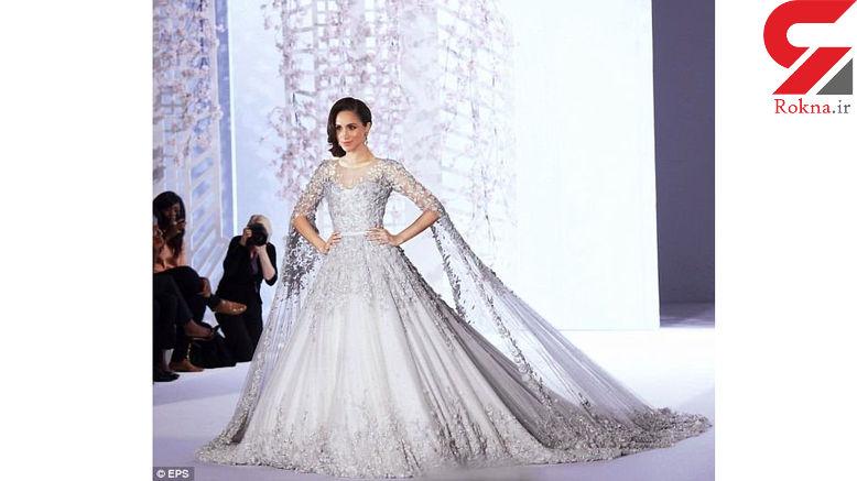 لباس عروسی میلیاردی یک بازیگر زن جنجالی شد + عکس عروس