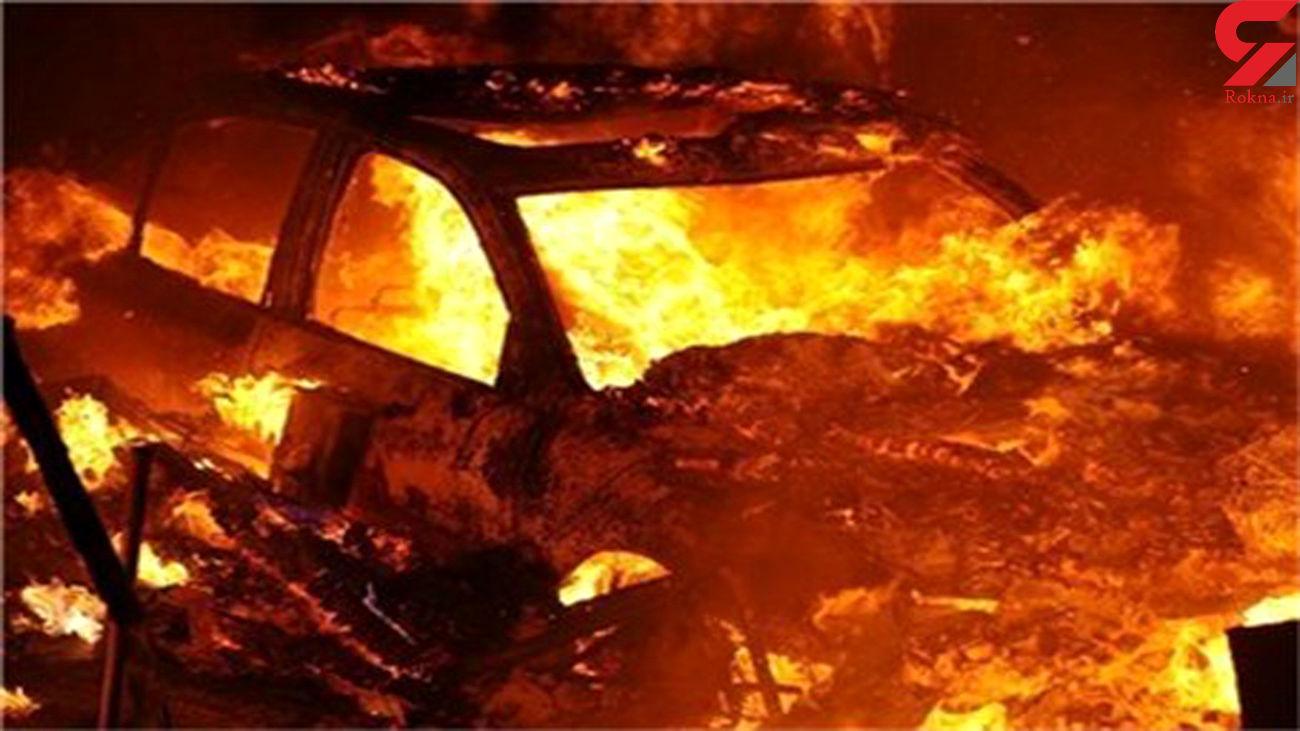 آتش زدن خودروی فوق لاکچری در شمال / انگیزه انتقام بود + جزییات