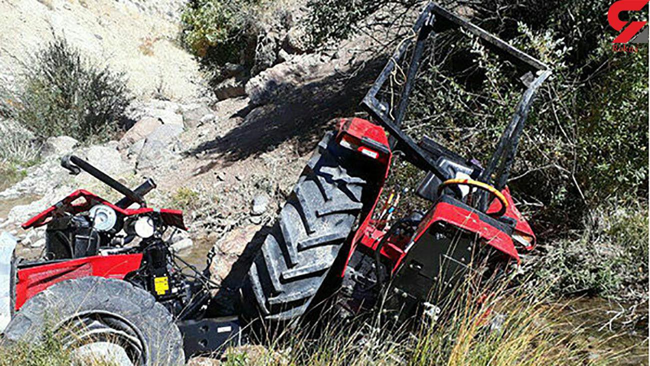 مرگ دلخراش جوان 24 ساله در تصادف با تراکتور + عکس