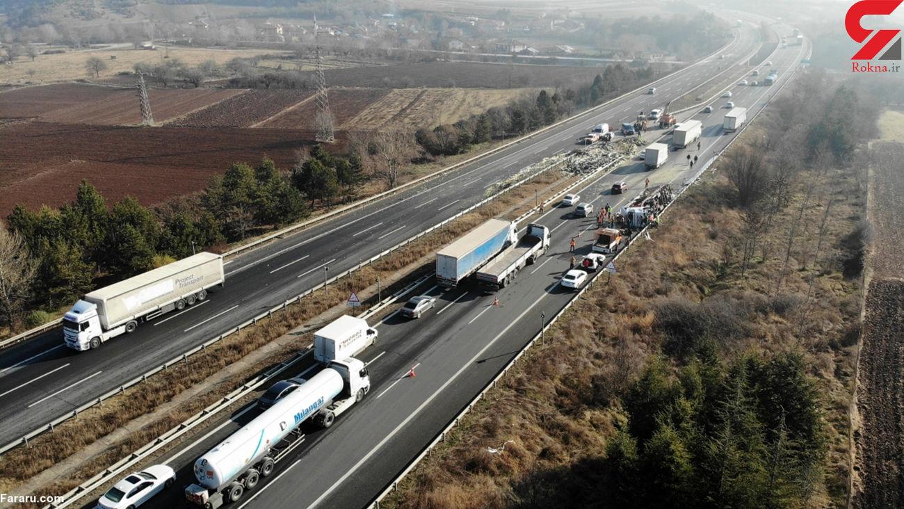 فاجعه ای توسط با چرت زدن راننده کامیون رخ داد + فیلم