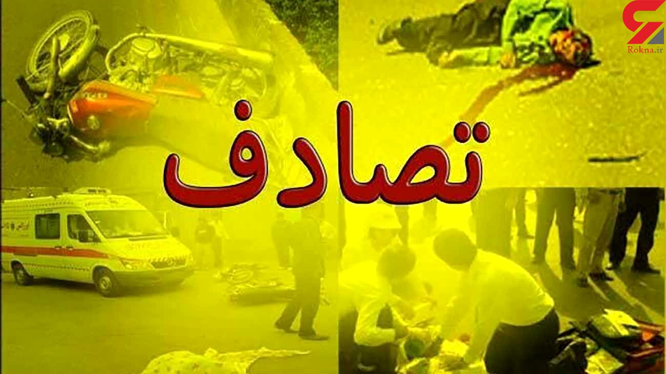 تصادف اتوبوس با تریلی در شیراز با 21 زخمی