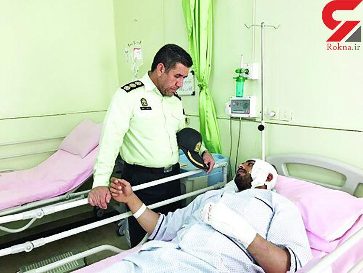 گفت و گو با سرباز فداکار کلانتری بهارستان تهران / مرد فراری با پراید از روی او رد شد + عکس