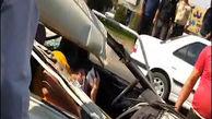 فیلم حادثه هولناک در نصیرشهر/ تریلی پیکان وانت را له کرد