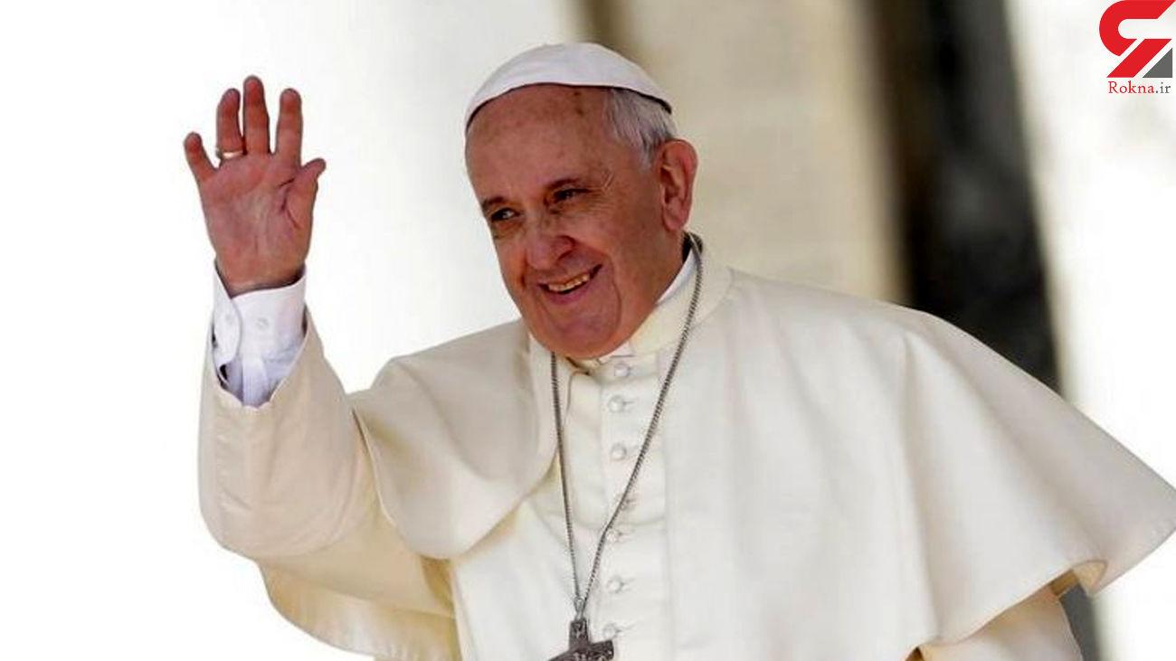 هدیه خاص پاپ به فرمانده الحشد الشعبی در عراق +عکس