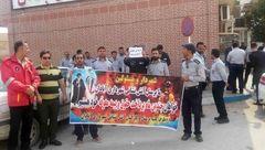 فاجعه / دستفروشی آتش نشانان آبادانی در آستانه چهارشنبه سوری / آنها حقوق نگرفته اند!