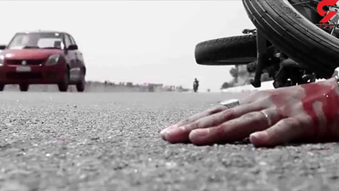 تصادف سمند و موتورسیکلت در چرام با یک کشته و 4 زخمی