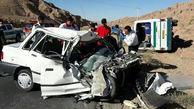 13 مصدوم در تصادف وحشتناک دو خودرو در جاده آب حیات سرفاریاب