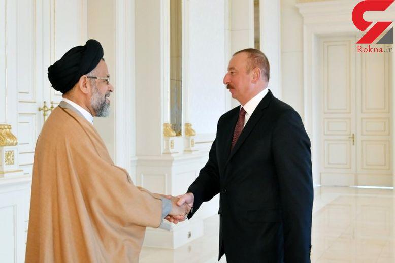 دیدار وزیر اطلاعات با رئیس جمهوری آذربایجان
