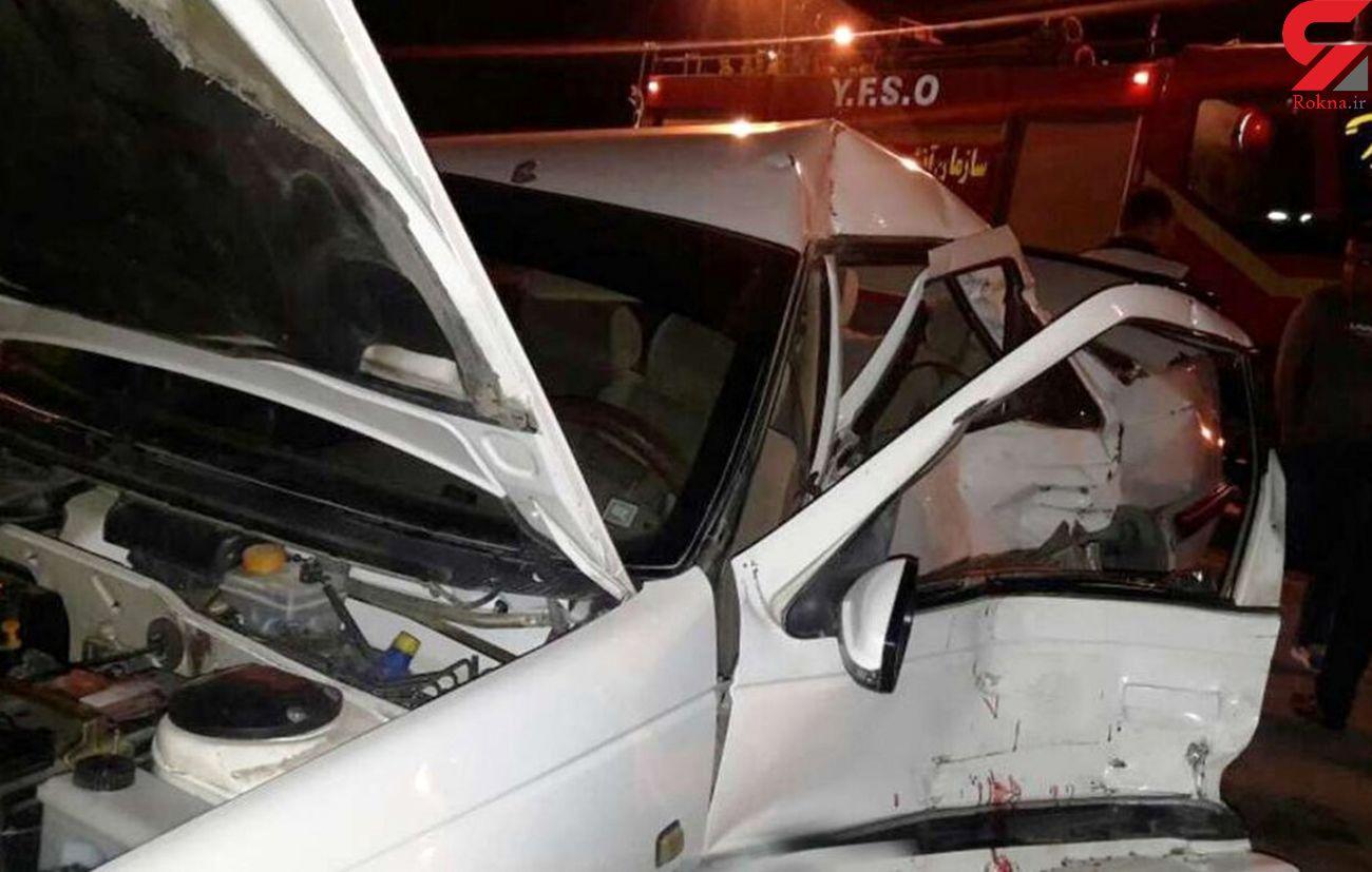 تصادف مرگبار ون در جاده سرخرود / 3 کشته و 14 زخمی