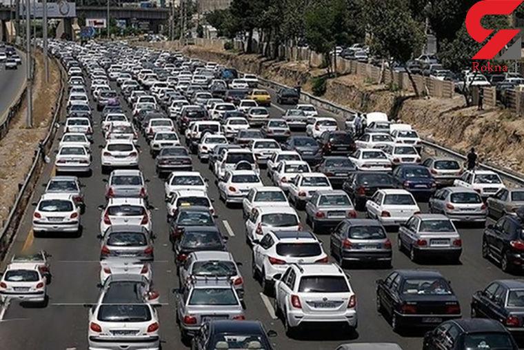 ترافیک معابر بزرگراهی تهران در بیست و چهارم دی ماه